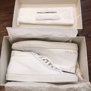 Common Projects White Achilles Mid Tops BRAND NEW